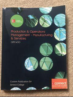 PRODUCTION/OPERATION MANAGEMENT TEXTBOOK