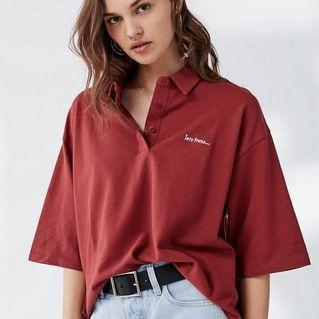 UO Oversized Polo Shirt