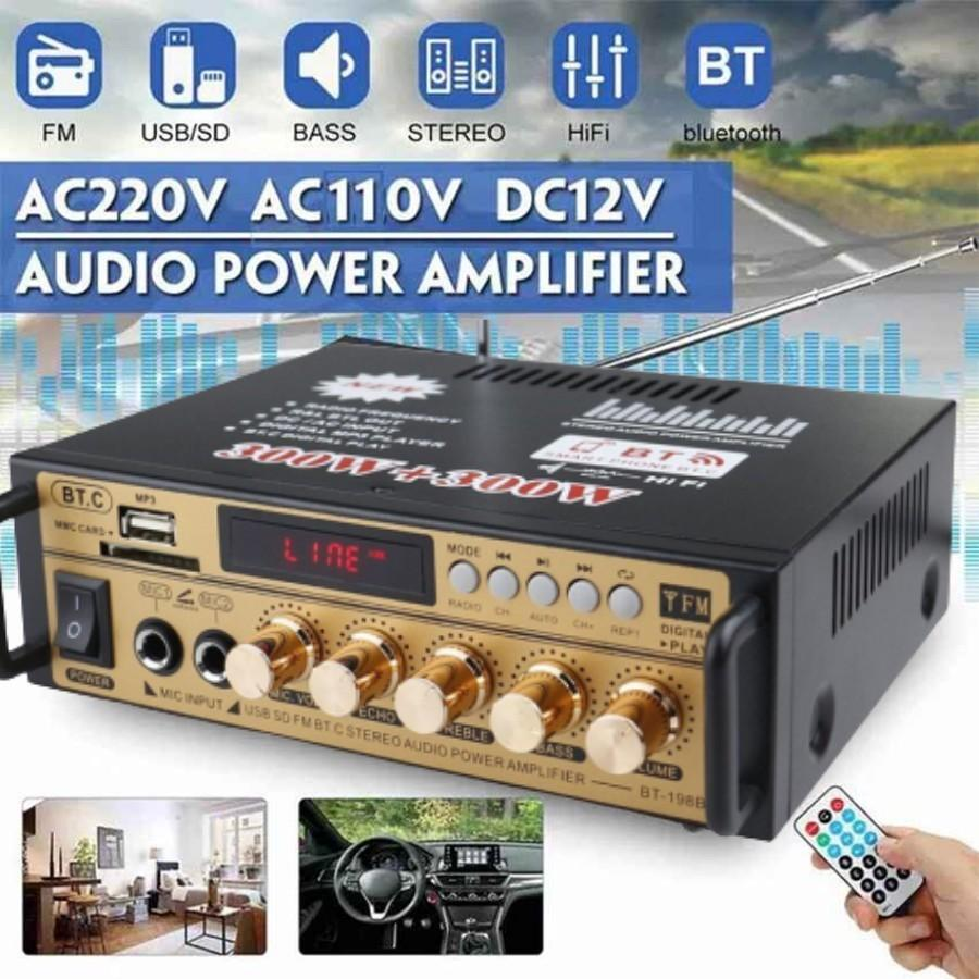 Upgraded Ksong Premium 600W Amplifier Mini HiFi Stereo Audio Power Amplifier bluetooth With Remote