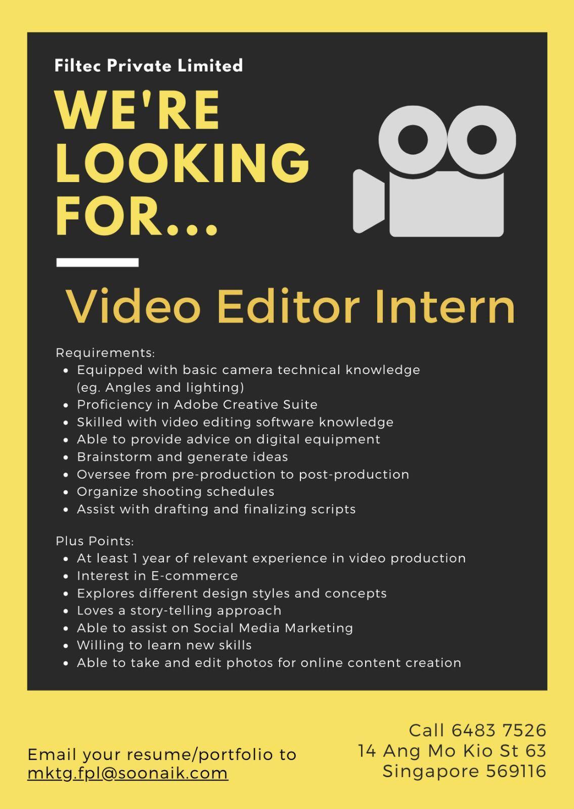 Video Editor Intern
