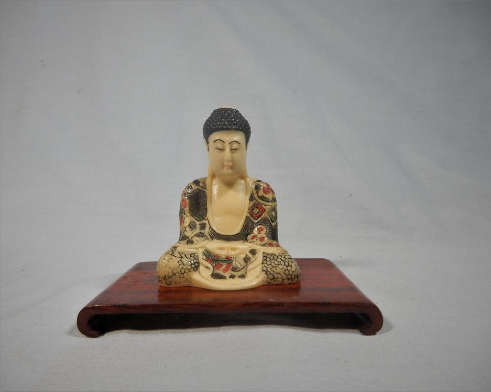Vintage Japanese Netsuke Buddha Statue Circa Mid 1900s Retired Vintage Collectibles Vintage Collectibles On Carousell