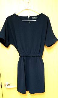 氣質深藍色短洋裝
