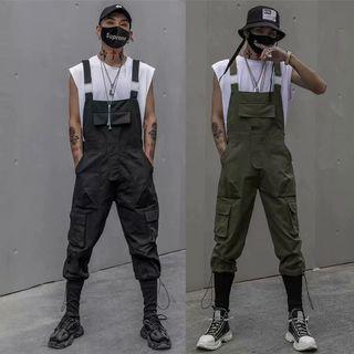 【 Gshop.】春夏嘻哈寬鬆背帶褲連體哈倫工裝褲