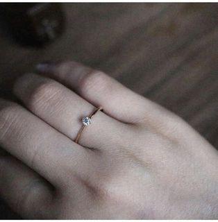AN 日本18K金真鑽戒指