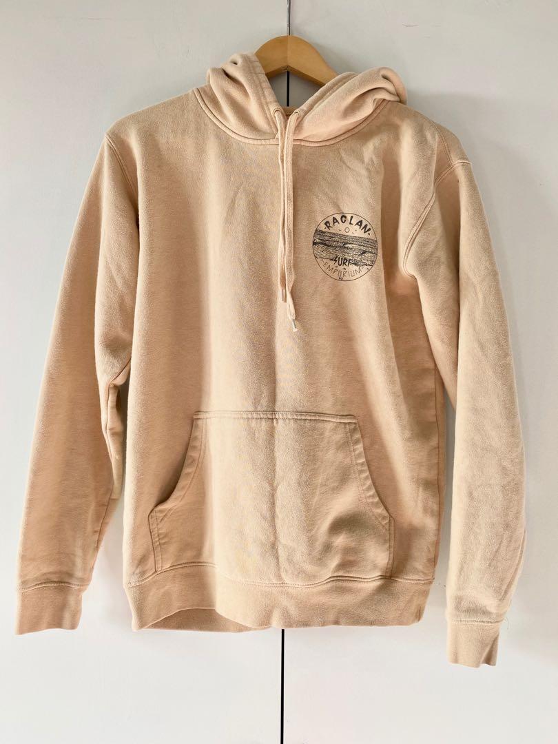 beige raglan surf emporium hoodie