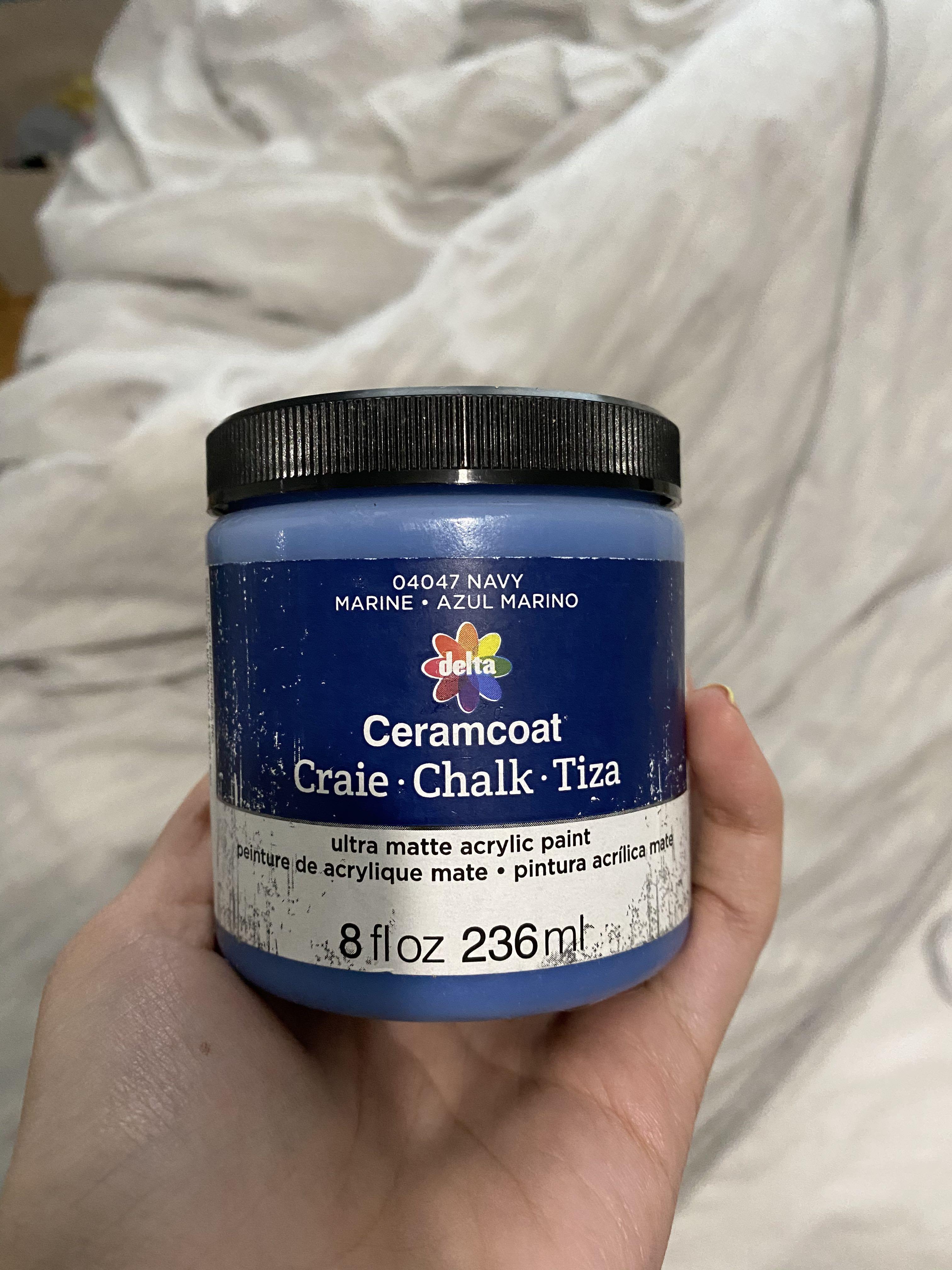 Blue chalk paint
