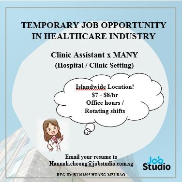 Clinic Assistant x Many Headcount Available!