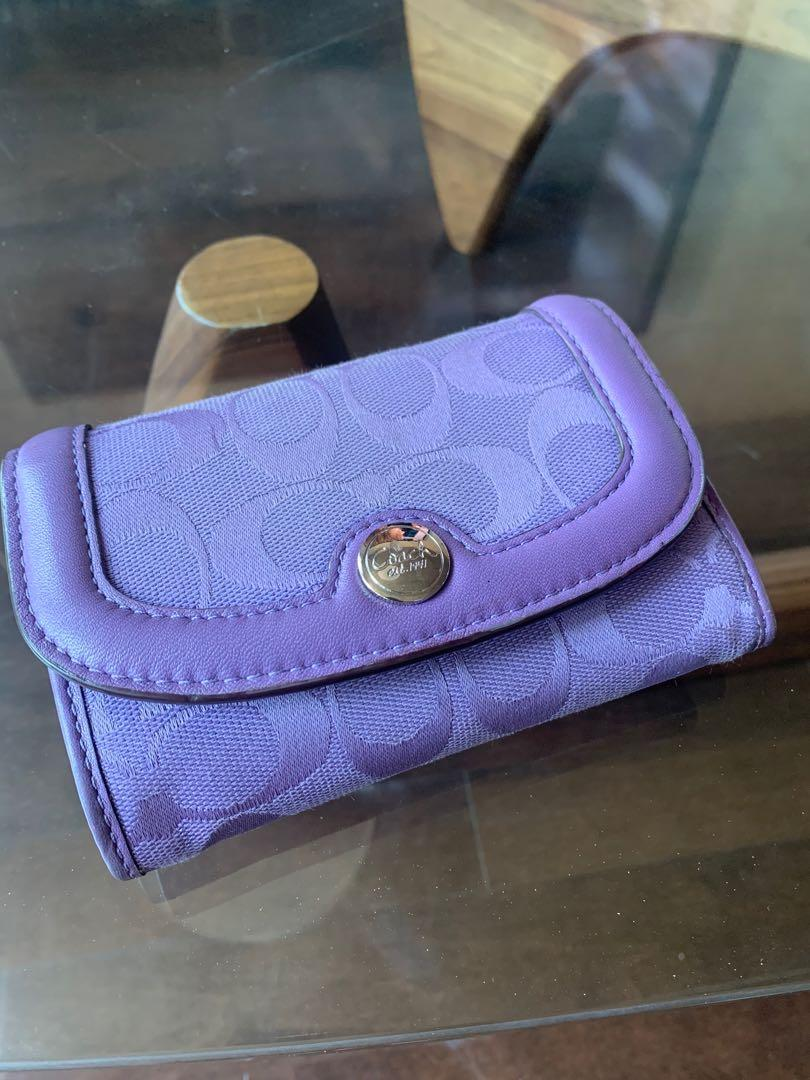 Coach - Signature Collection Purple Women's Wallet