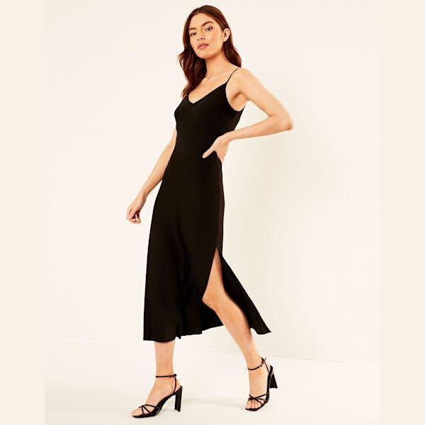 glassons silk midi dress