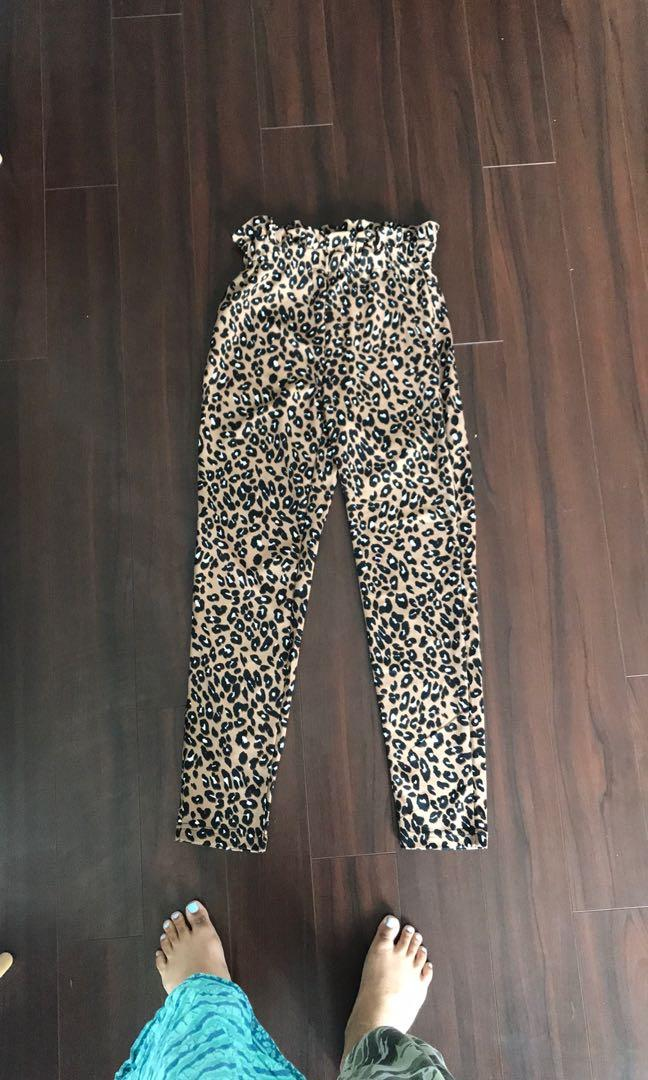 High Waisted Leopard Print Pants