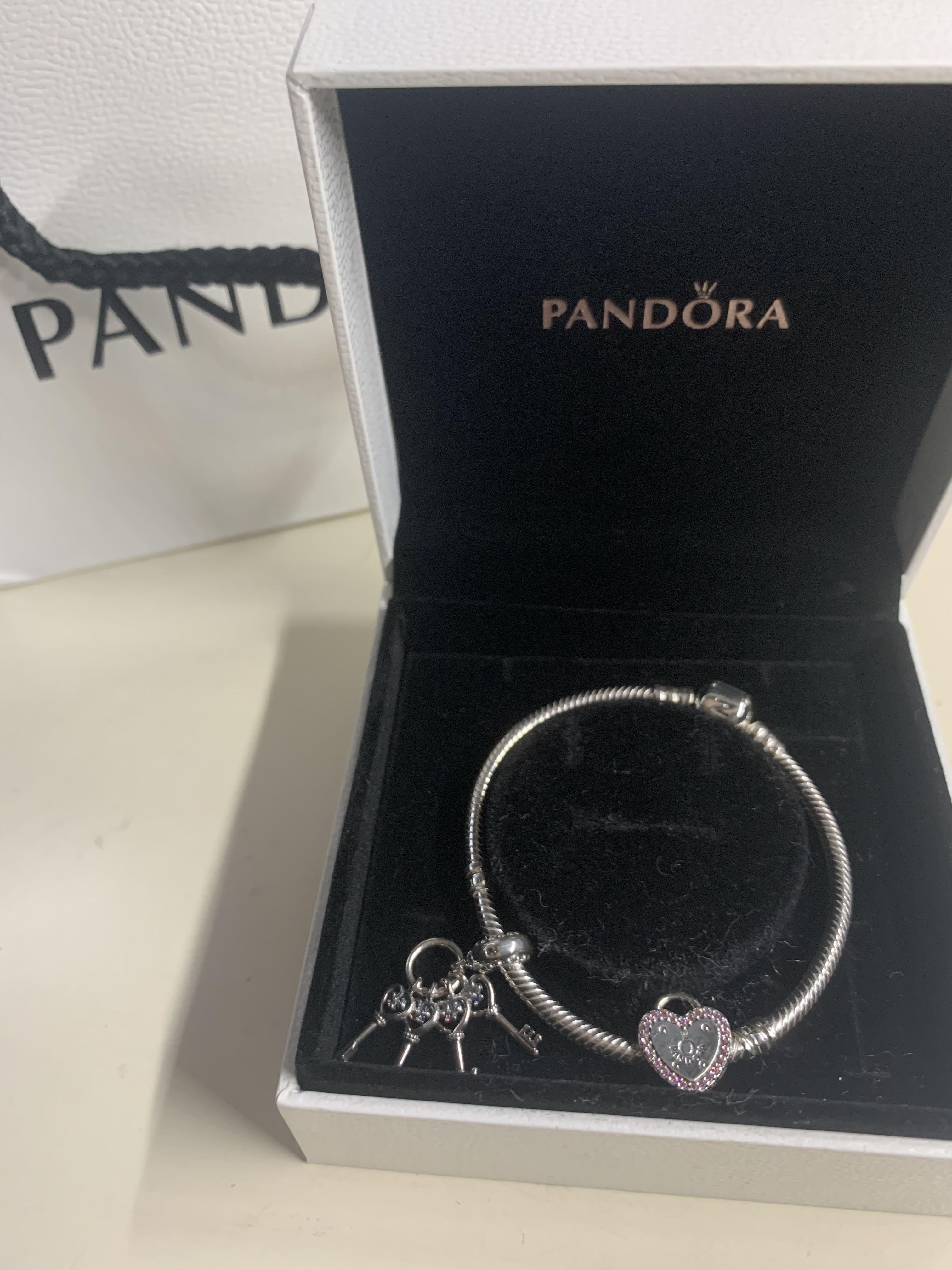 Pandora Bracelet Valentine S Heart Lock Women S Fashion Jewelry Organisers Bracelets On Carousell
