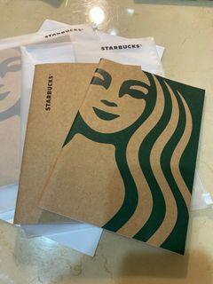 STARBUCKS 星巴克筆記本夾鏈袋組 #防疫
