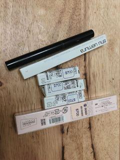 全新 植村秀眼線筆筆管+棕色蕊芯3個+Jill Stuart 眼線膠筆棕+植村秀眼線筆(黑)
