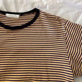 [紫黃條紋]條紋上衣  短T🇰🇷購入 #newstart