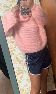 毛衣粉色 咖啡色 毛茸茸