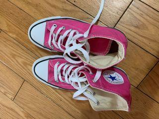 Converse all star 粉色高筒鞋