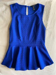 Forever 21 F21 Blue formal Blouse Top