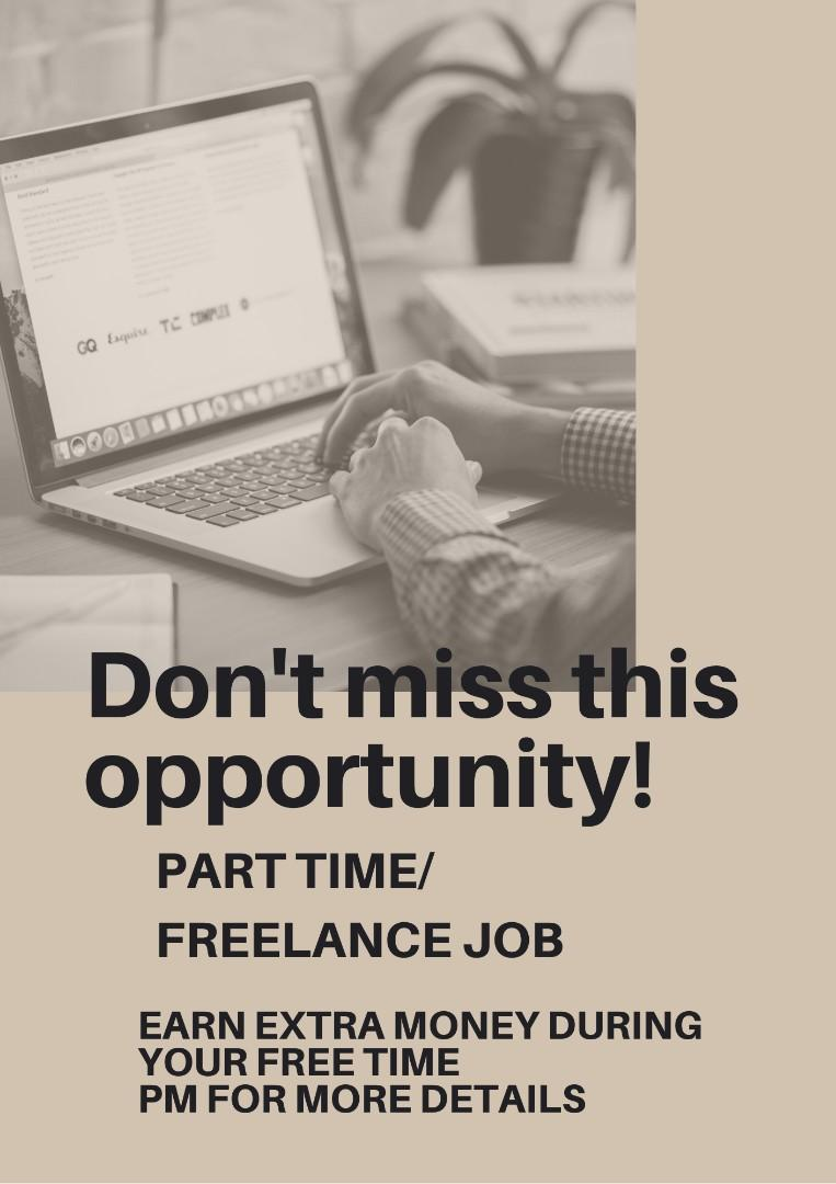 Part time and freelance position
