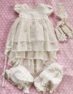 Periwinkle Baptismal Dress Set