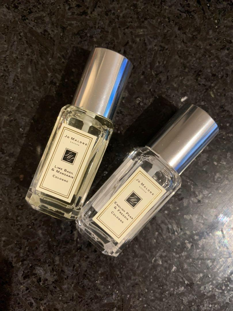 Set of 2 Jo Malone 9ml - Lime Basil & Mandarin/English Pear & Freesia