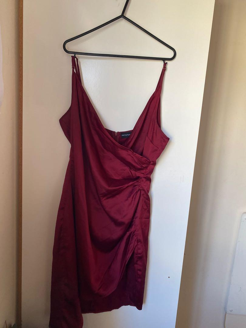 Size 12 Red Satin Dress