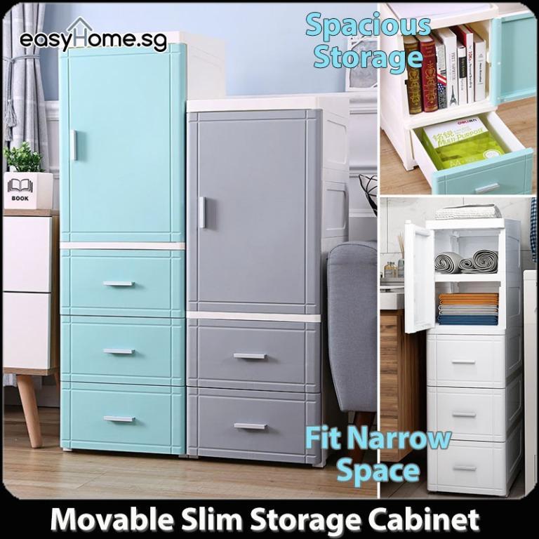 Slim Storage Cabinet Plastic Drawer, Slim Storage Cabinet