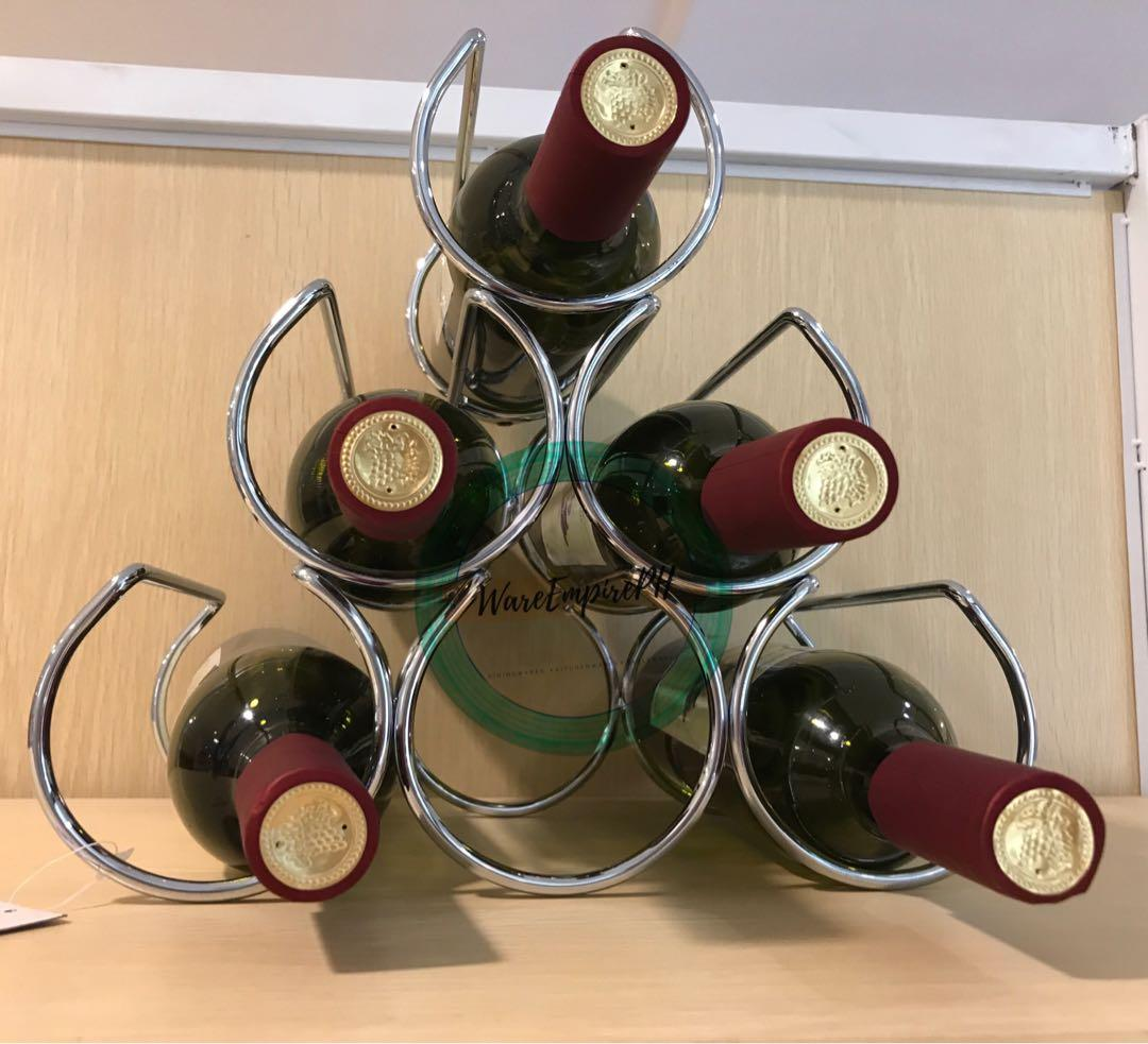 Stainless Steel Wine Rack Home Furniture Home Tools And Accessories On Carousell