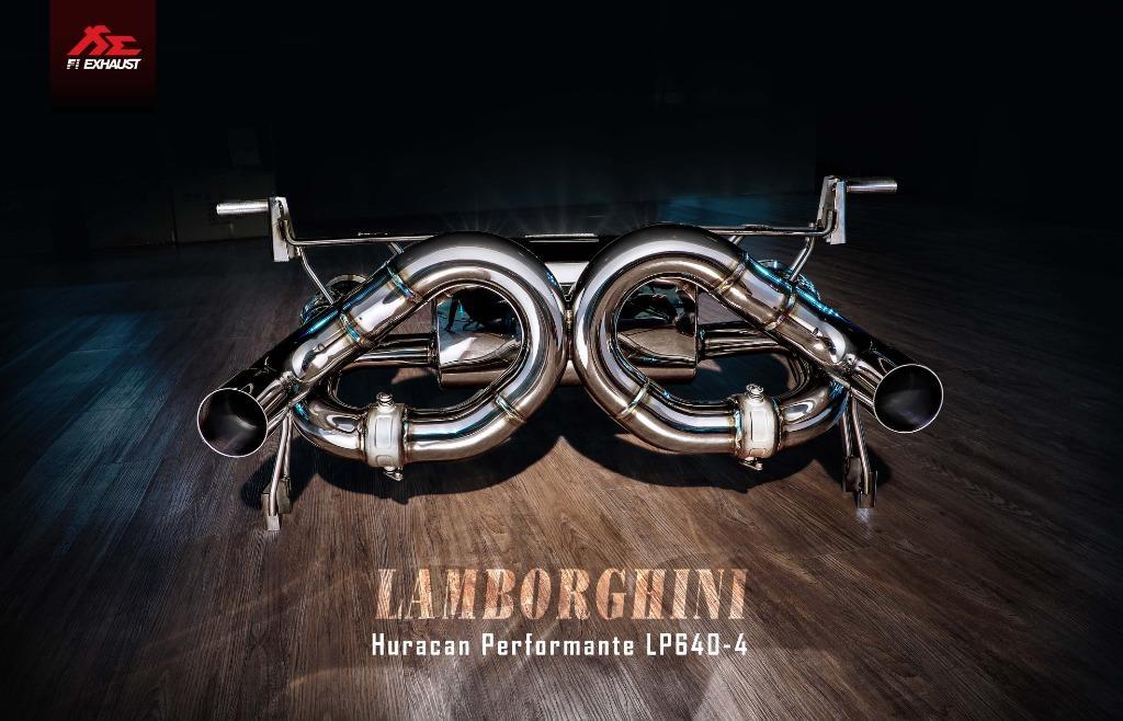 【YGAUTO】FI Lamborghini Huracan Performante LP640-4 中尾段閥門排氣管 全新升級 底盤