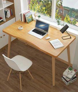 (訂貨價$188up)北歐弧形電腦枱+木腳 (60cm|80-120cm寬) 書枱 飯枱 餐枱 電腦桌 書桌 Desk