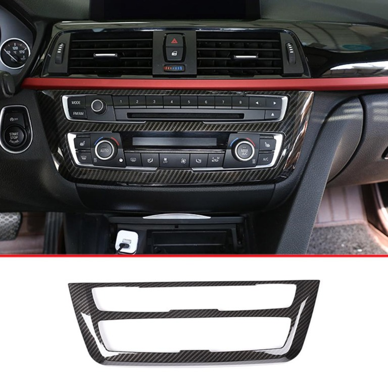 Right Drive ABS Carbon Fiber Center Console Gear Shift Decoration Panel Cover Trim For 3 4 Series GT F30 F34 F32 F33 F36