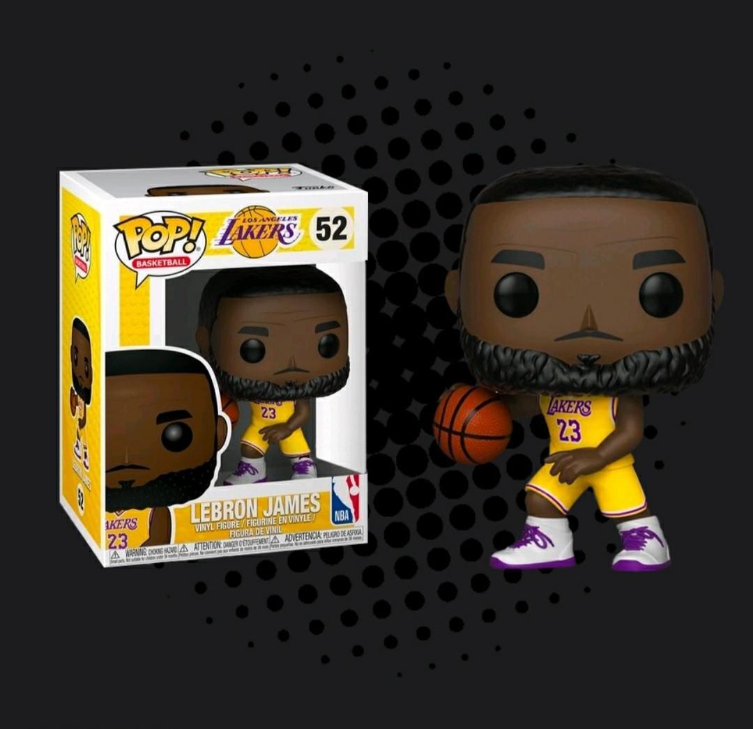 Funko Pop - NBA Basketball LA Lakers yellow jersey LeBron James on ...