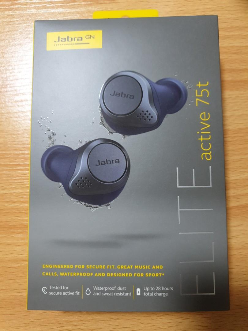 Jabra Elite Active 75t Navy Blue Electronics Audio On Carousell