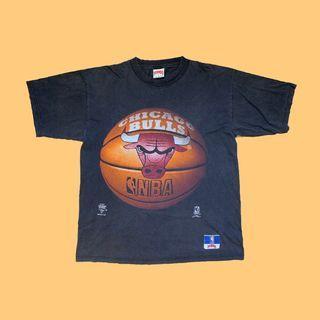 JCI:Vintage NBA 芝加哥 公牛隊 隊徽漫畫短T 短T 90s / 古著 / 嘻哈 / JORDAN