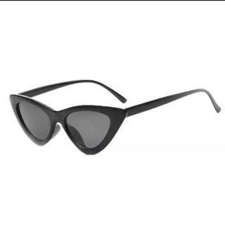 Sunglasses Cat Eye All Black