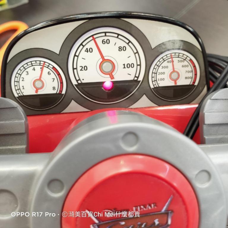 207*保固3天 二手方向盤電視遊樂器 迪士尼 Pixar Cars 2閃電麥坤