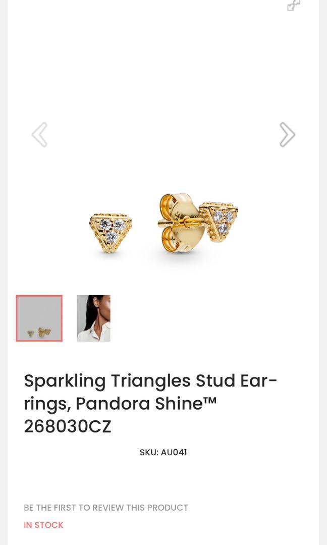 BAYVIEW/EGLINTON PICKUP. Pandora shine sparkling triangle earrings