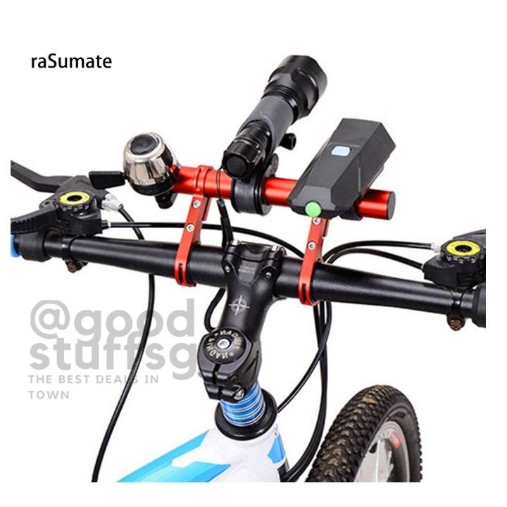 MTB Bicycle Extender Mount Bike Handlebar Flashlight Bracket GPS Phone Holder