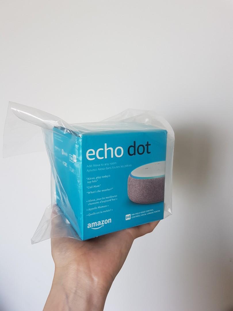 BNIB Amazon Echo Dot 3rd Gen - Plum