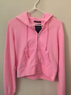 brandy melville pink hoodie