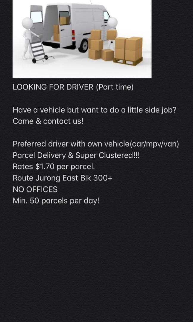 Driver delivery parcel