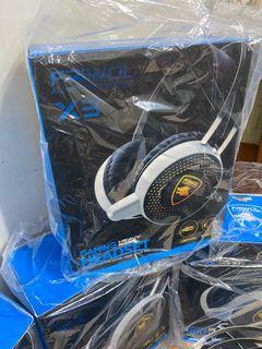 Gaming Heavy Bass Headset & 7.1 audio interface
