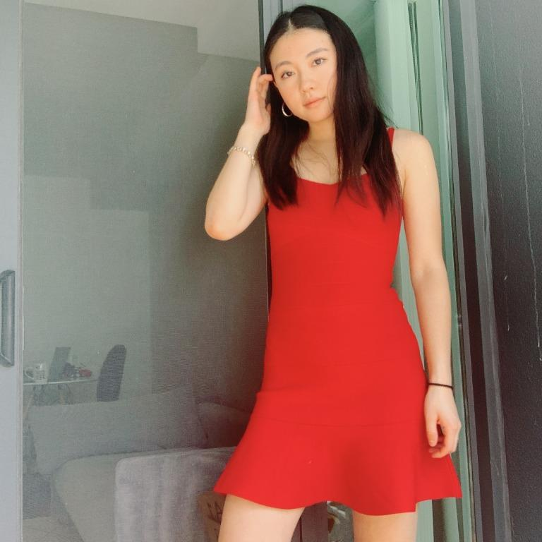 Hot Red Bodycon Dress