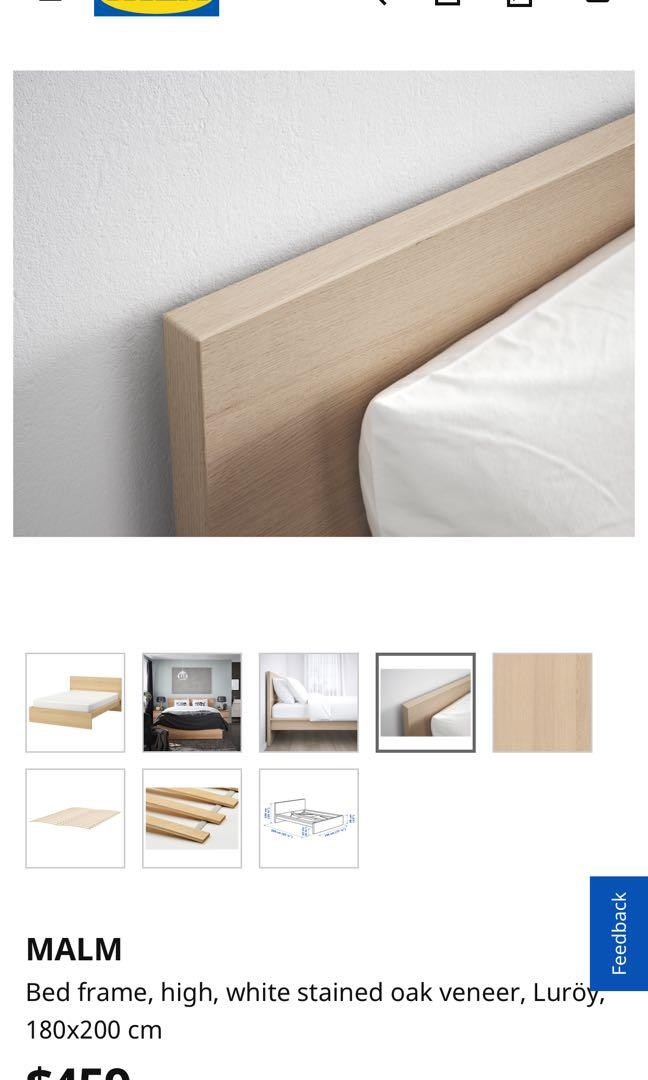Ikea Malm Bed Frame 195 210 Super King Furniture Beds Mattresses On Carousell
