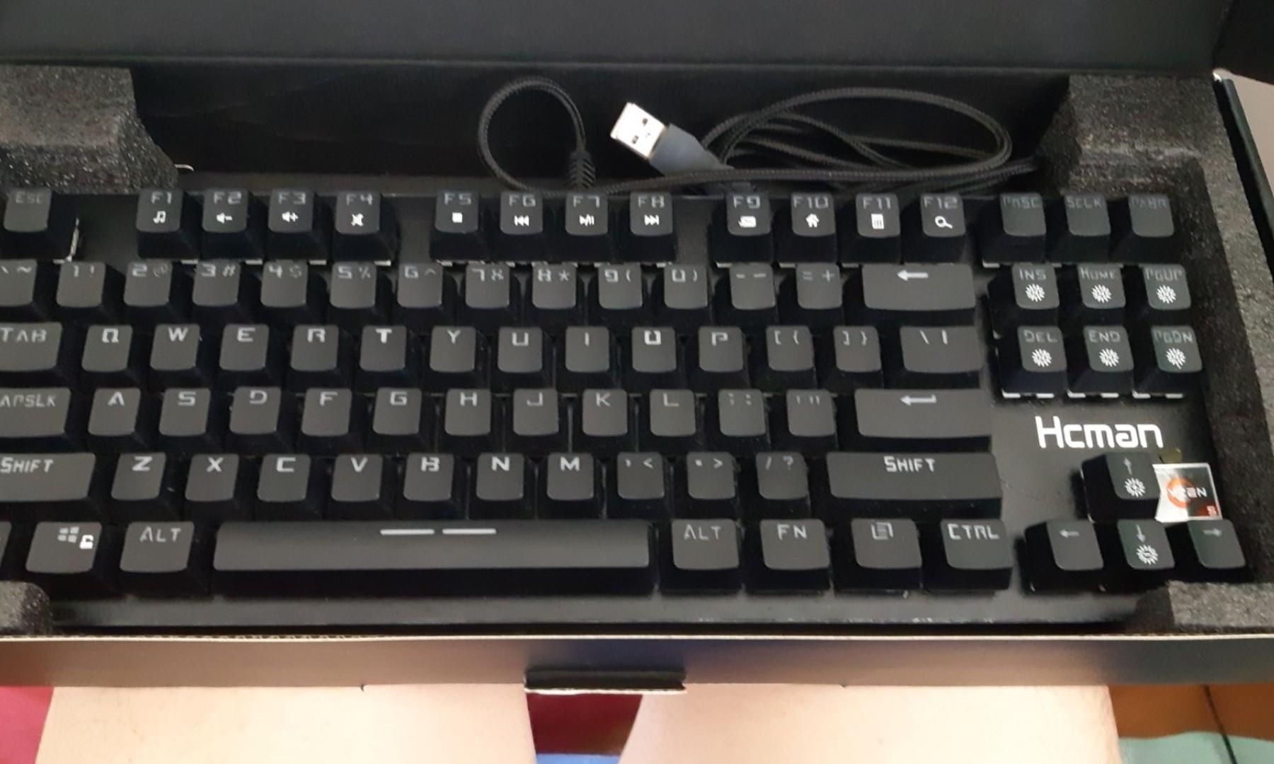 Mechanical Gaming Keyboard 87 Keys - Hcman H02