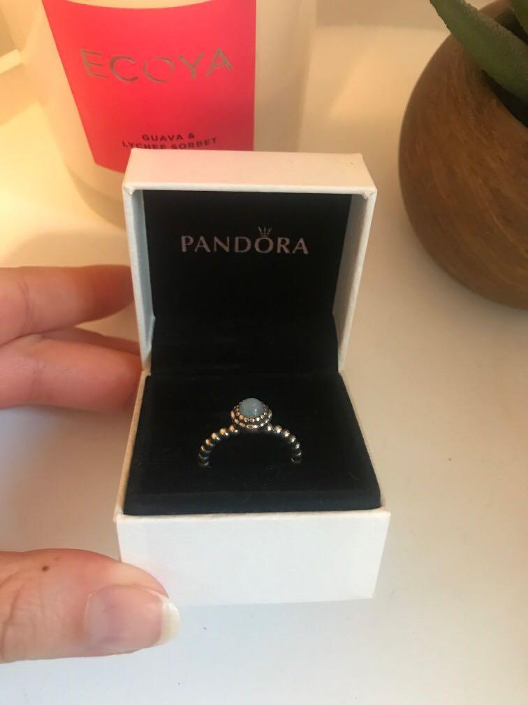 Pandora birth stone ring