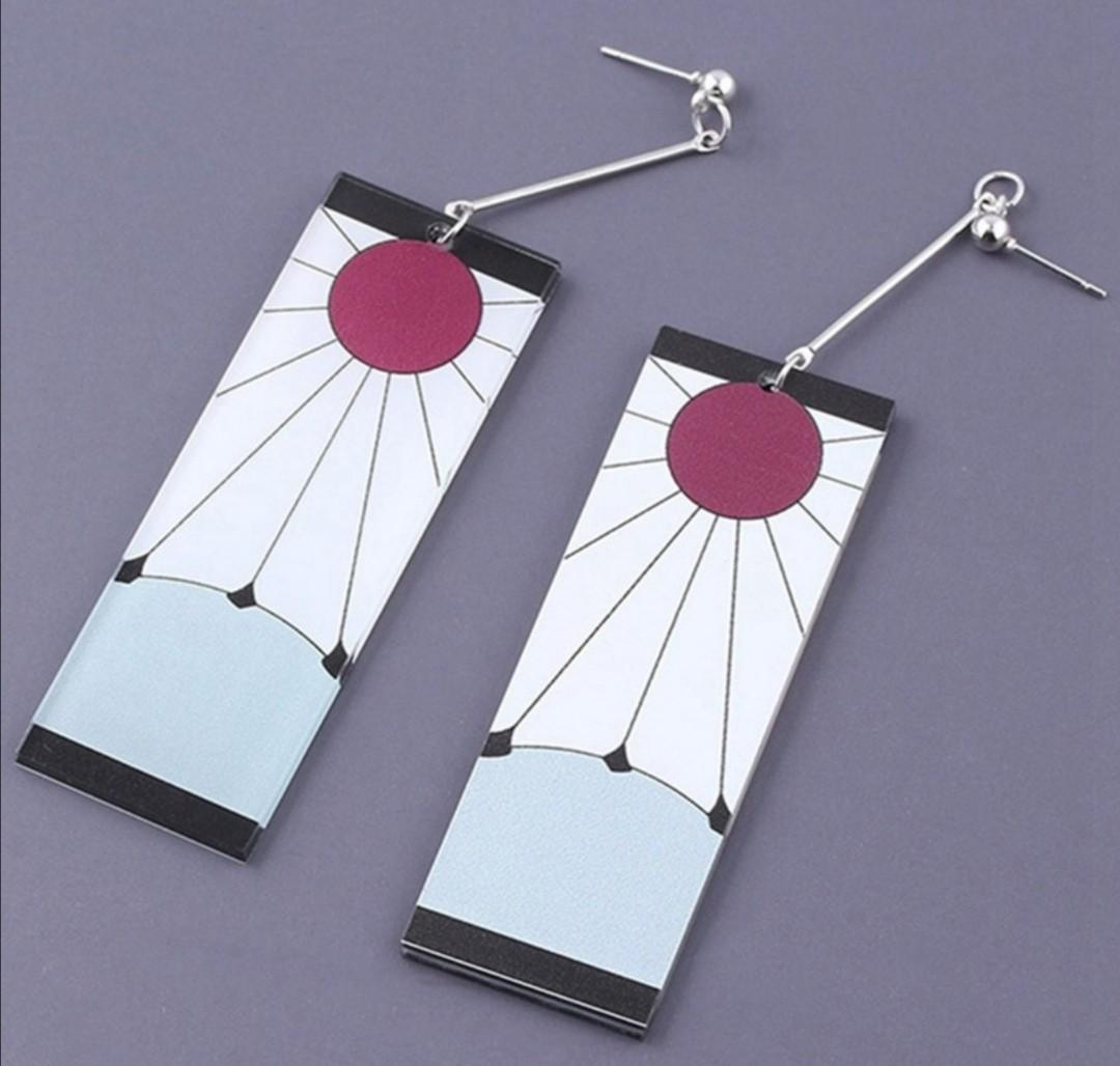 Po Demon Slayer Earrings Entertainment J Pop On Carousell Original and bright, kamado tanjirou earrings match not only cosplay costume, but also casual daily outfits. po demon slayer earrings