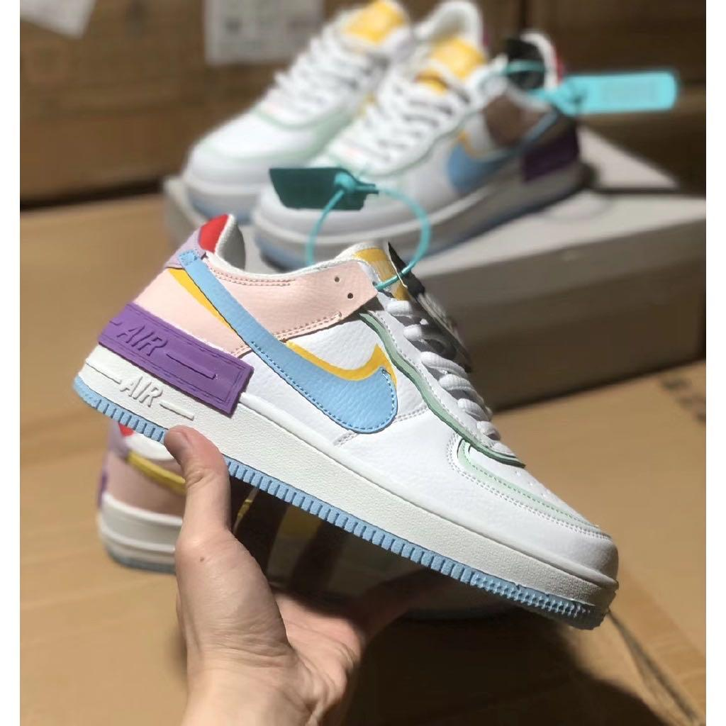 Po Nike Air Force 1 Shadow Macaron Diamond Candy Women S Fashion Shoes Sneakers On Carousell And while tonal pairs have secured bruce kilgore's 1982 design a spot within th. sgd