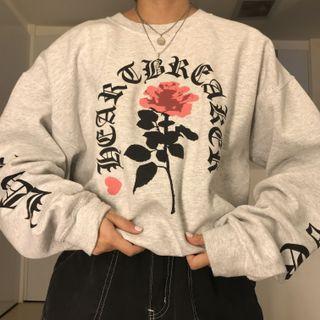 Vintage Streetwear Oversized Graphic Print Sweater