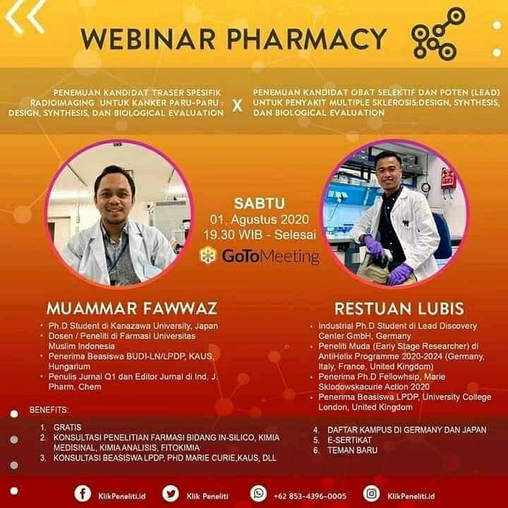 Webinar Farmasi Gratis Via gotomeeting