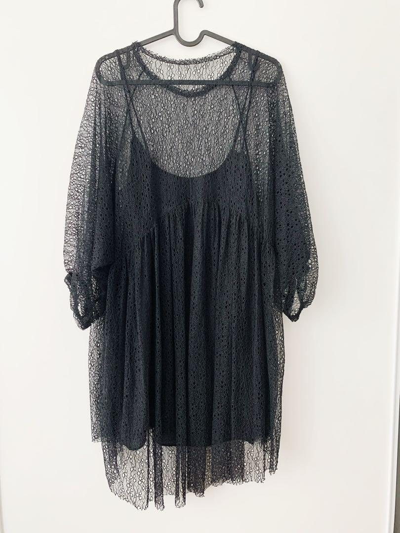 ~~Zara black lace dress ~~